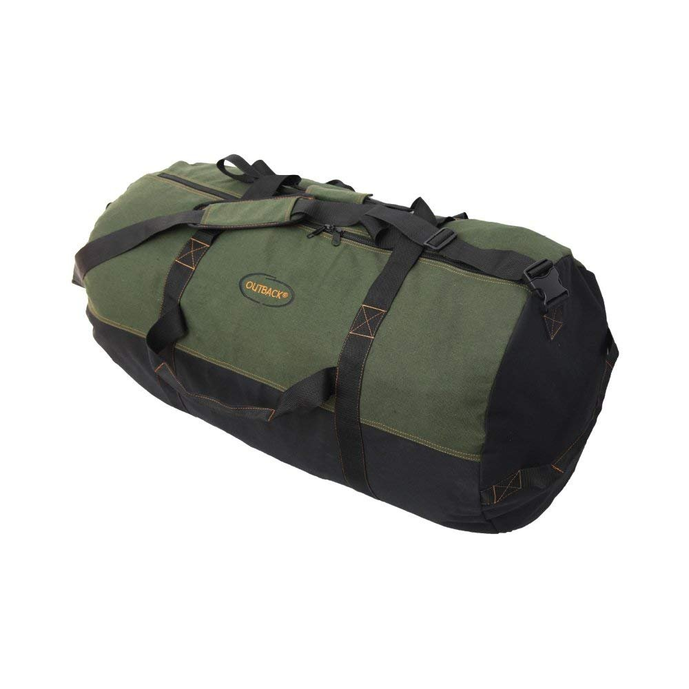 Ledmark Heavyweight Cotton Canvas Outback Duffle Bag, Green, Giant 48'' x 20''