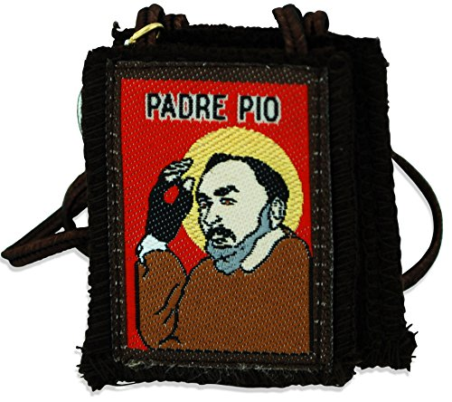 Authentic Catholic Scapular - 100% Wool (Padre Pio)