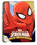 Marvel Ultimate Spiderman Web-Warriors Wide Ruled Spiral Notebook ~ Spidey Action! (8