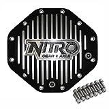 Nitro (NPCOVER-C9.25) Black Aluminum Finned 12-Bolt Differential Cover for Chrysler 9.25'' Differential