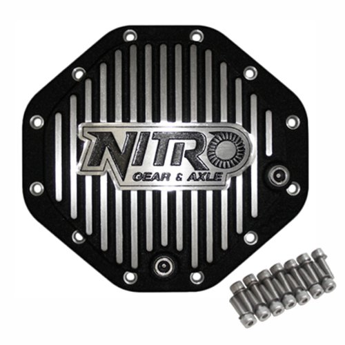 Nitro (NPCOVER-C9.25) Black Aluminum Finned 12-Bolt Differential Cover for Chrysler 9.25' Differential