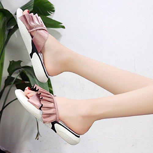 Plate Semelle Loisir Flops des Chaussons pink Sandales Flip prape v6FIqx