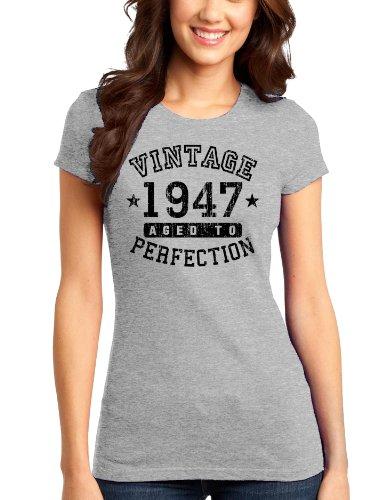 - 1947 - Vintage Birth Year Juniors T-Shirt - Ash Gray - 4XL TooLoud Brand