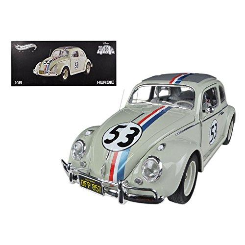 1963 Volkswagen Beetle The Love Bug'' Herbie #53 Elite Edition 1/18 Diecast Car Model by Hotwheels'' by Generic