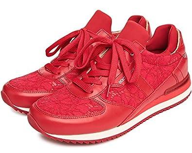 b9f4bbe7a419e Dolce & Gabbana Women's Fashion Sneakers Red EU 37 (7 B(M) US): Buy ...
