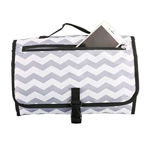 Kingshalor Portable Waterproof Baby Diaper Changing Pad,Diaper Bag Mat,Lightweight Travel Station Kit for Baby Diapering,Detachable and Wipeable Mat,for Infants & Newborns