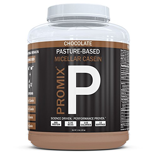 100% Casein Protein Powder I PROMIX Chocolate Micellar I USA Pastures I Nothing Artificial I Stimulate Muscle Growth & Recovery Slow Release Amino I Preservative Free Keto Bulk 1LB- No Soy,Gluten