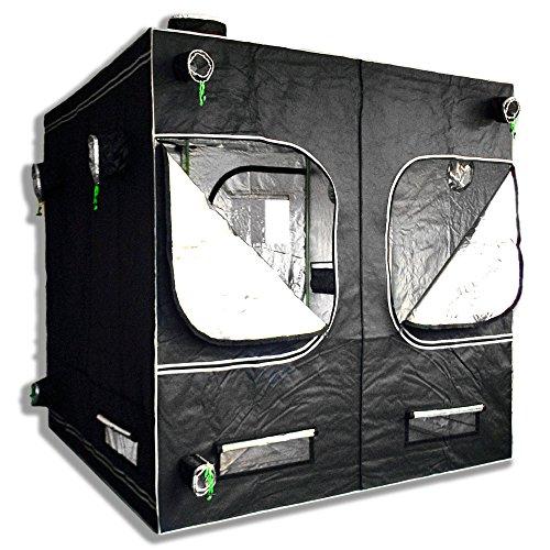 """5115vraHRLL - Matrix Horticulture 80""""x80""""x80"""" Grow Tent Diamond Mylar 600D Hydroponic Growing Room Box for Indoor Plants Observation Window Arch Door D Design"""