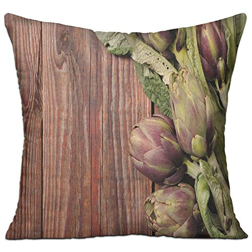 HAIXIA Artichoke Freshly Picked Vegetables Healthy Vegan Option Going Green Decorative Redwood Dried Rose And Fern Green House Decor Throw Pillow Cover 18