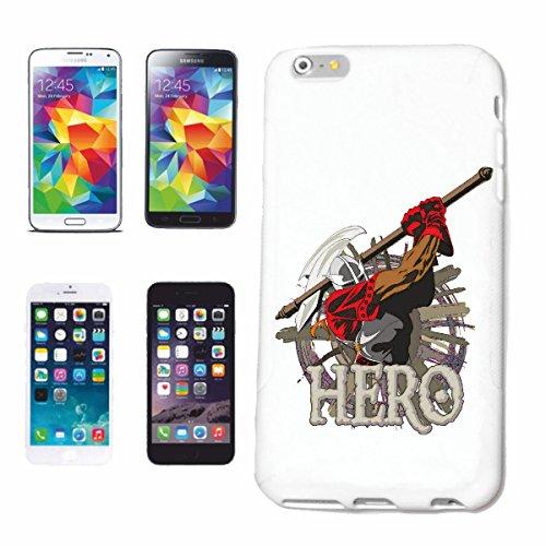 """cas de téléphone iPhone 7+ Plus """"HERO KNIGHTSWORD KNIGHT ARMOUR Ritterburg KNIGHT CASQUE SHIELD"""" Hard Case Cover Téléphone Covers Smart Cover pour Apple iPhone en blanc"""