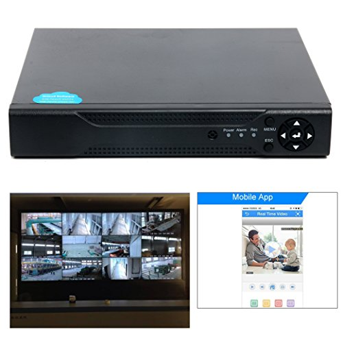 YaeCCC 4CHannel 1080N 5 in 1(Compatible TVI,CVI,AHD,CBVS,IPC) CCTV DVR, H.264 NO HDD Security Surveillance Video Record (Full 960H,1080P HD-Output/VGA/BNC Output,Smartphone& PC Easy Remote Access)