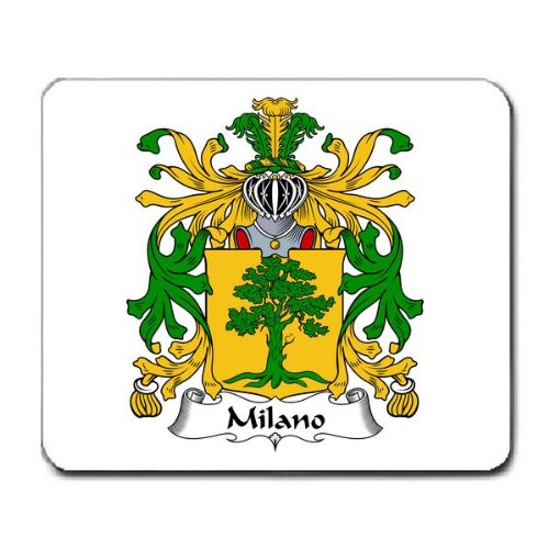 (Milano Family Crest Coat of Arms Mouse Pad )