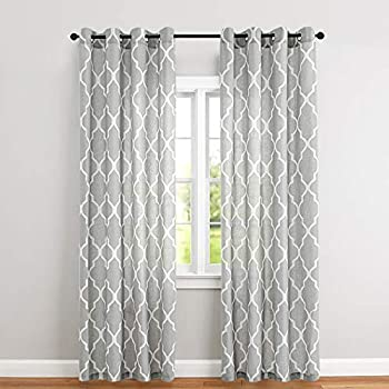 Moroccan Tile Printed Linen Curtains 95 Inch Long For Bedroom Curtain Living Room Window Drapes