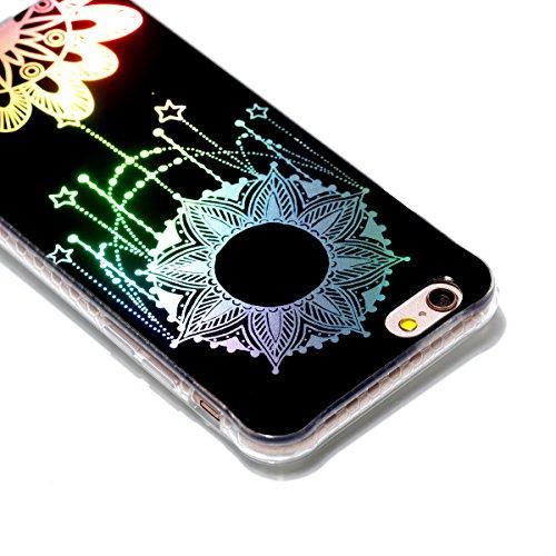 Funda para Apple iPhone 6/6S(4.7 Zoll), Ecoway TPU plating Patrón de recubrimiento de color Carcasa Antideslizante Parachoques Resistente a los arañazos Contraportada Funda de silicona Parachoques Car Tótem solar
