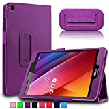 Infiland Asus Zenpad S 8.0 (Z580C/Z580CA) Case, Folio Premium PU Leather Stand Cover Fit 2015 Released ASUS ZenPad S 8 Z580C / Z580CA 8-Inch Tablet (ASUS Zenpad S 8.0 , Purple)