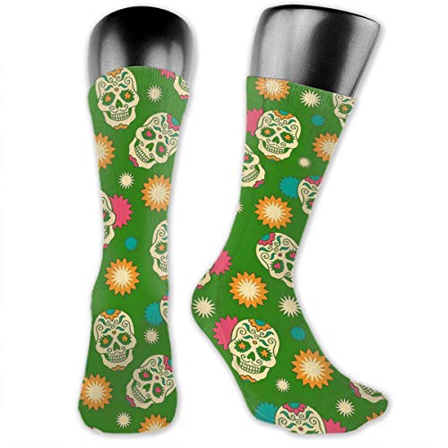 b507d752cebce Amazon.com: Colorful Trick Sugar Skull Comfort Cool Vent Crew Socks ...