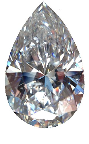 RINGJEWEL 1.54 ct VVS1 Pear-Cut Loose Moissanite Use 4 Pendant/Ring White J-K Color Stone