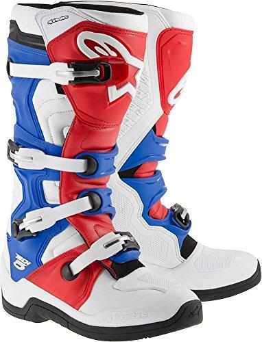 Alpinestars Tech 5 Boots-White/Red/Blue-10 by Alpinestars