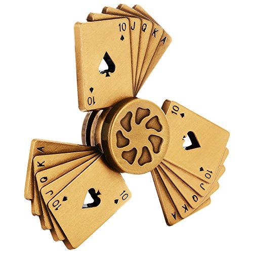 Mini Gold Metal Poker Fidget Spinner