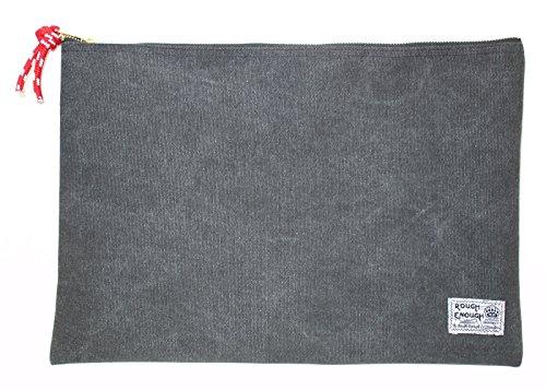 Rough Enough Heavy Canvas A4 Size Fancy Vintage Document Folder Holder (Stone Black)