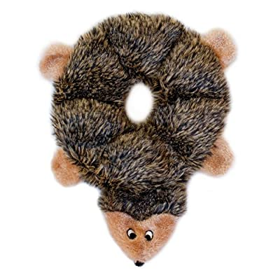 ZippyPaws Loopy 6-Squeaker Plush Dog Toy, Hedgehog