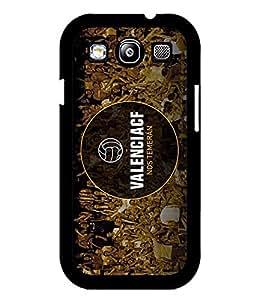 Personalized Funda Case For Galaxy S3, Valencia Club De Futbol Football Club Anti Dust Pretty Artistic Vintage Design Impact Resistant Plastic Hard Funda Case For Samsung Galaxy S3 i9300