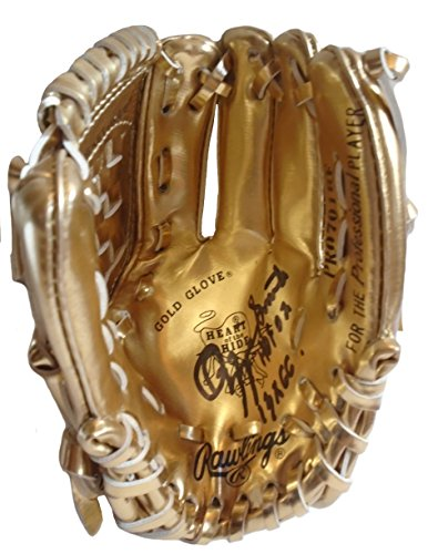 Ozzie Smith Autographed Hand Signed Rawlings Gold Glove Award Mini Baseball Mitt with Proof Photo, San Diego Padres, HOF, COA ()