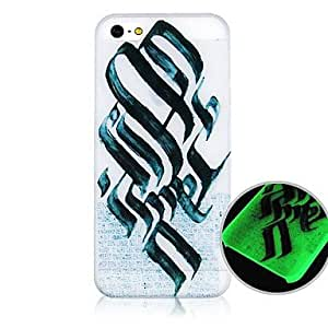 TOPMM Black and White Pattern Fluorescence after Sunniness Hard Back Case for iPhone 4/4S
