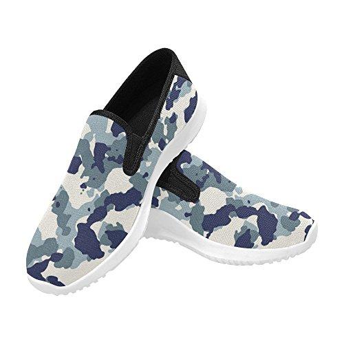 Interestprint Kvinna Slip-on Dagdrivaren Skor Duk Mode Sneakers Multi 9