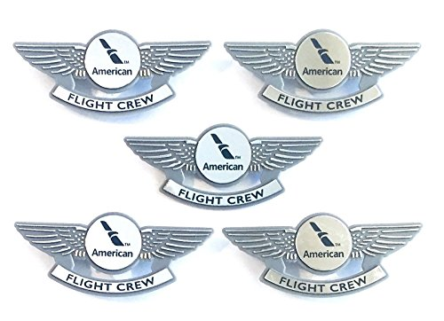 Aviator Kids Airplane Pilot Wings Plastic Pins Pinbacks Badges Lot of 5 Silver