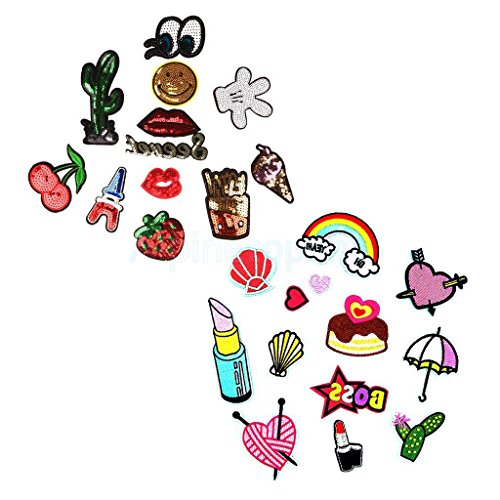 25pcs Sequin Applique Embroidered Sew/Iron on Patch Decoration Embellishment by alpinetopline