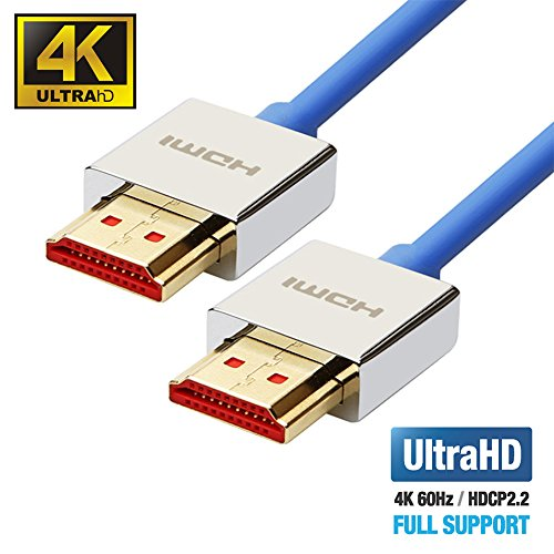UPTab HDMI 2.0a Slim Cable 6 FT - UHD 4K@60Hz with HDR - Ult