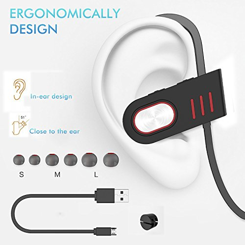 hhusali bluetooth headphones wireless in ear earbuds v4 1 sports sweatproof earphones buy. Black Bedroom Furniture Sets. Home Design Ideas
