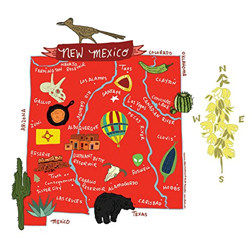 Allport Editions Hello : New Mexico Kitchen Towel - 100% Cotton Kitchen Dish Towel