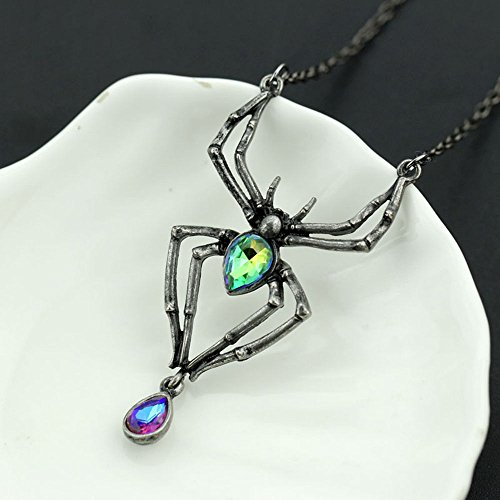 UltraSunday Black Spider Pendants Gothic Necklaces Jewelry Costume Accessories Halloween by UltraSunday