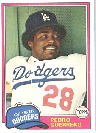 Amazoncom 1981 Topps Baseball Card 651 Pedro Guerrero Mint