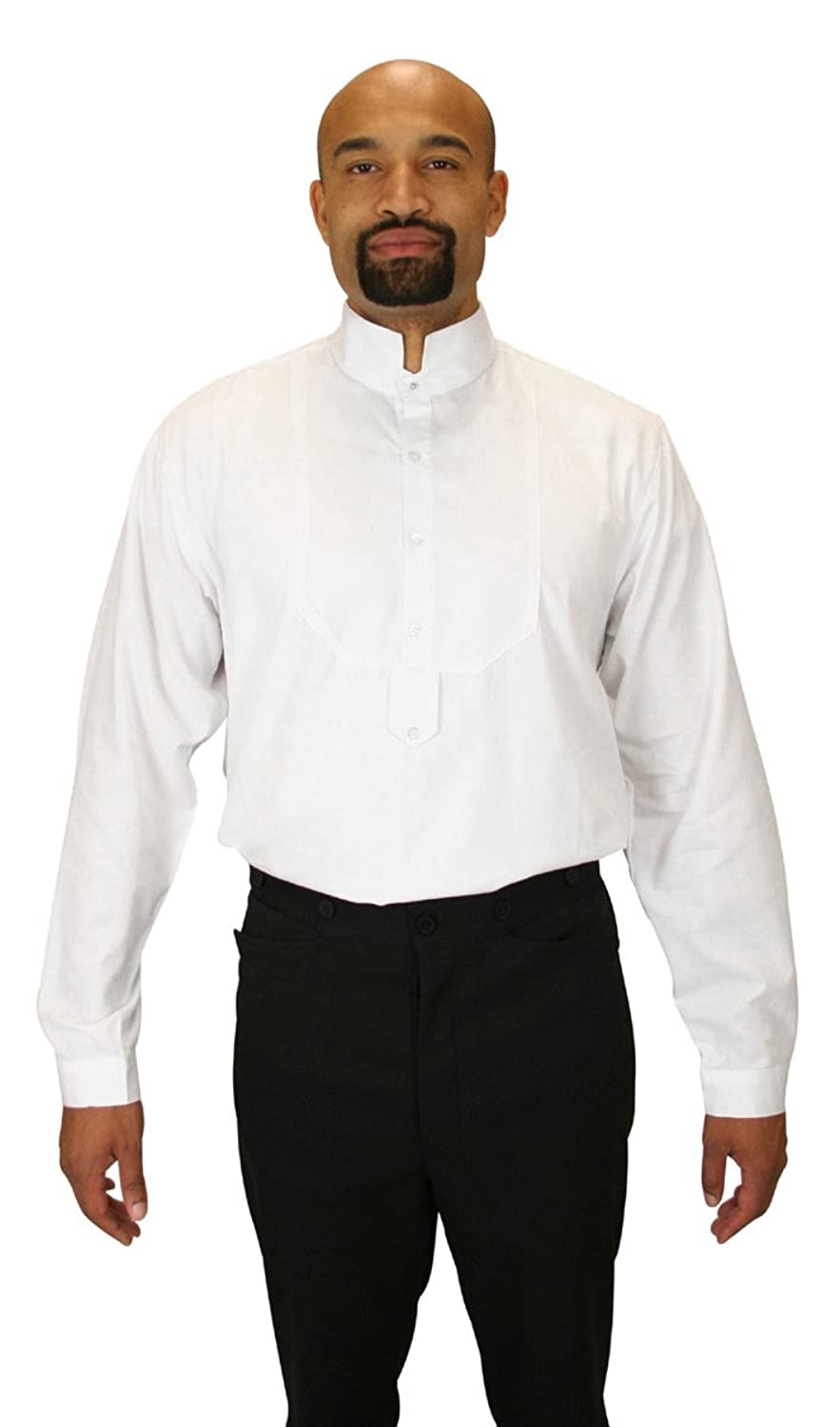 Victorian Men's Shirts- Wingtip, Gambler, Bib, Collarless Mens Victorian Collar Dress Shirt $59.95 AT vintagedancer.com
