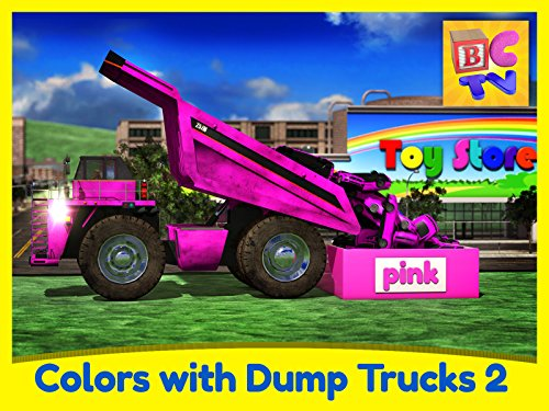 Cyan Part - Learn Colors with Dump Trucks - Part 2