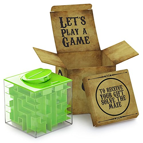 Money Maze Puzzle Box For Kids and Adults- Unique Way To Give Gifts For Special People - Fun and Inexpensive Game Challenge For Teenagers - Safe for Children! (Old Cheap Coins)