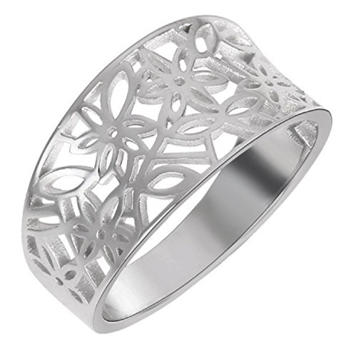 - CloseoutWarehouse Sterling Silver Victorian Leaf Filigree Vintage Ring Size 9