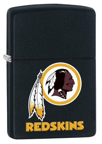 Zippo Lighter NFL Washington Redskins Black Matte