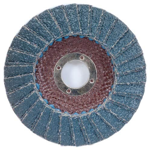 4 1/2'' × 1/4'' × 7/8'' Flap Disc Type 29 Conical 40 Grit (Pack of 10)