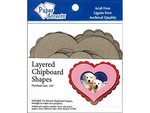 Accent diseño de corazón papel Acentos adplshape. 5capas