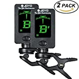 #10: (2Pack) Hantwin Chromatic Guitar Tuner 360 degree Rotational Electronic Digital Tuner Easy to Use Highly Accurate Clip-on Tuner - Suitable for Acoustic and Electric Guitar Bass Violin Ukulele