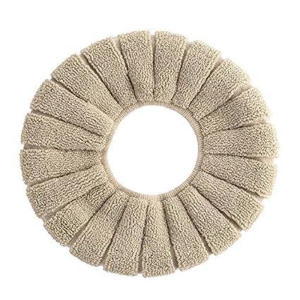 Majome Coj/ín del Asiento del Inodoro del ba/ño Closestool Lavable Almohadilla de la Cubierta del Calentador Suave