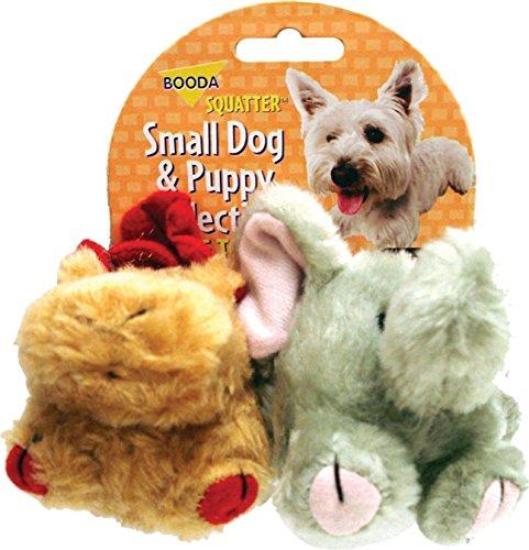 BOODA Pet Products Squatter Moose/Elephant Dog Toy (2 Pack) [Set of -