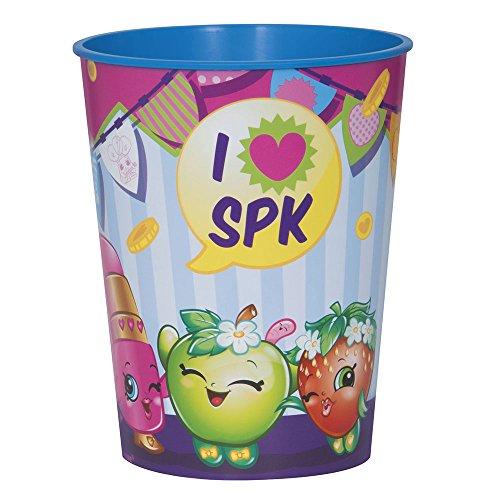 16oz Shopkins Plastic Cups, 12ct