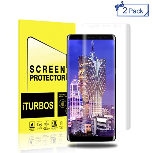 Galaxy Note 8 Screen Protector [2-Pack],iTURBOS Full Screen Coverage 3D PET HD Screen Protector Film for Samsung Galaxy Note 8 2017.