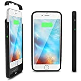 ThinCharge - World's Thinnest iPhone 6 /6S Battery Case - Ultra Slim High-Capacity 2,600mAh Battery - iPhone Portable Charging Case Protective Cover for iPhone 6 /6S (4.7 inch) [BLACK]