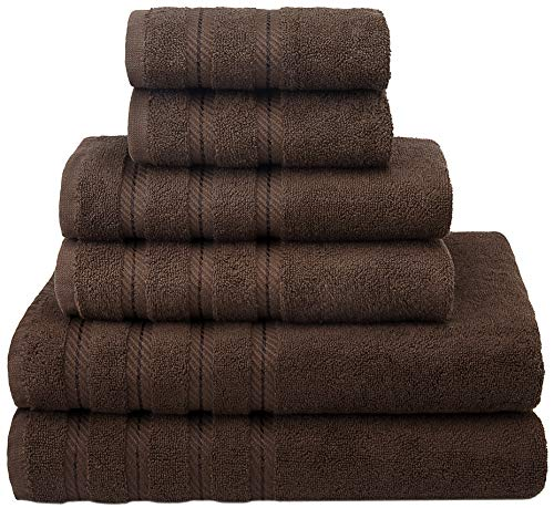 American Soft Linen Premium, Luxury Hotel & Spa Quality, 6 Piece Kitchen & Bathroom Turkish Towel Set, Cotton for Maximum Softness & Absorbency, [Worth $72.95] (Chocolate Brown) from American Soft Linen